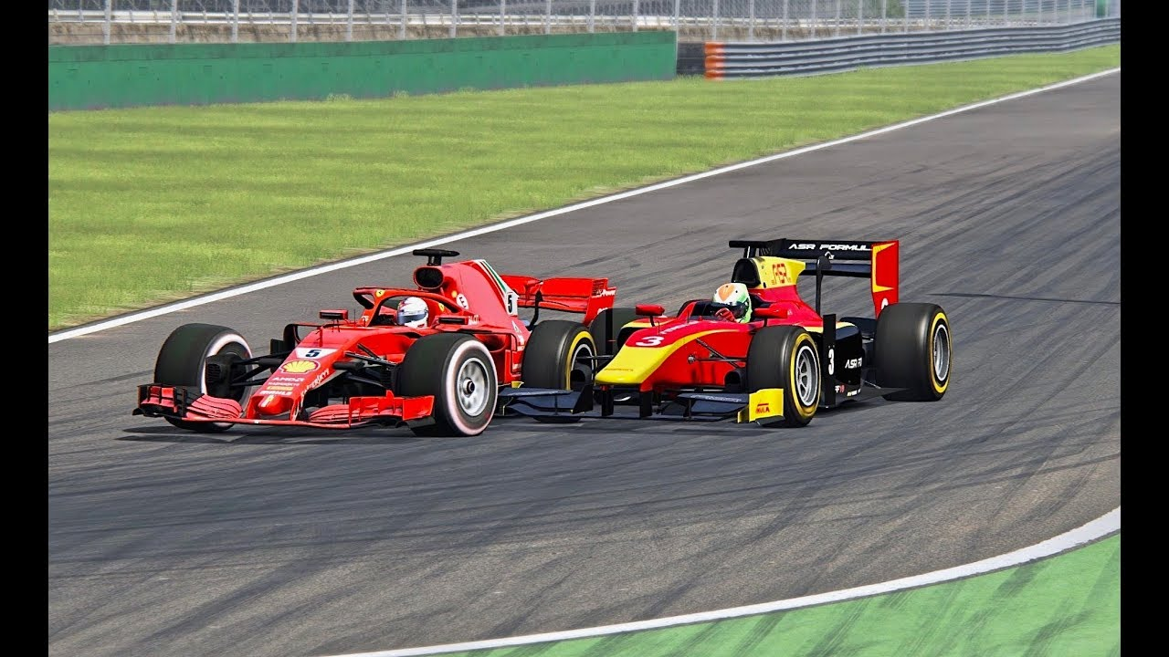 ferrari f1 2018 vs gp2 car monza youtube. Black Bedroom Furniture Sets. Home Design Ideas