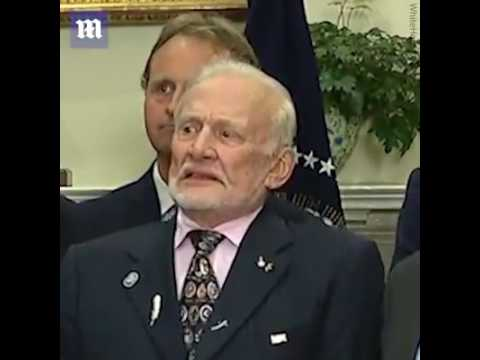 Buzz Aldrin's face when Donald J. Trump talks about space ...