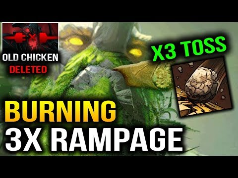 Burning 3x Rampage with 3x Toss Tiny Dota 2 7.07 Dueling Fates