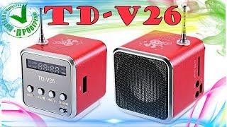 TD-V26 - обзор и тестирование лучшей мини портативной колонки из Китая