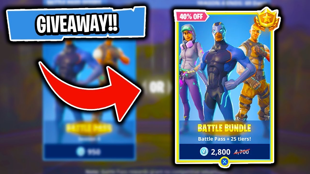 Fortnite Season 4 Battle Pass 25 Tiers Bundle Giveaway Youtube