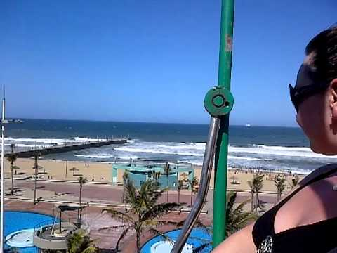 Sherice's panic stations on durban beach cable car