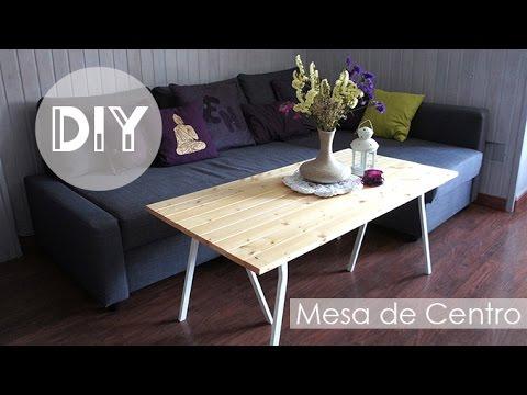 DiY Decoracin  Mesa de centro de madera  YouTube