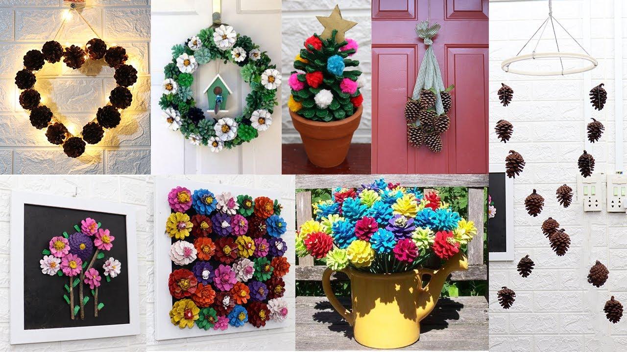 Home decorating ideas handmade with Pine cone | 10 Home decor ideas