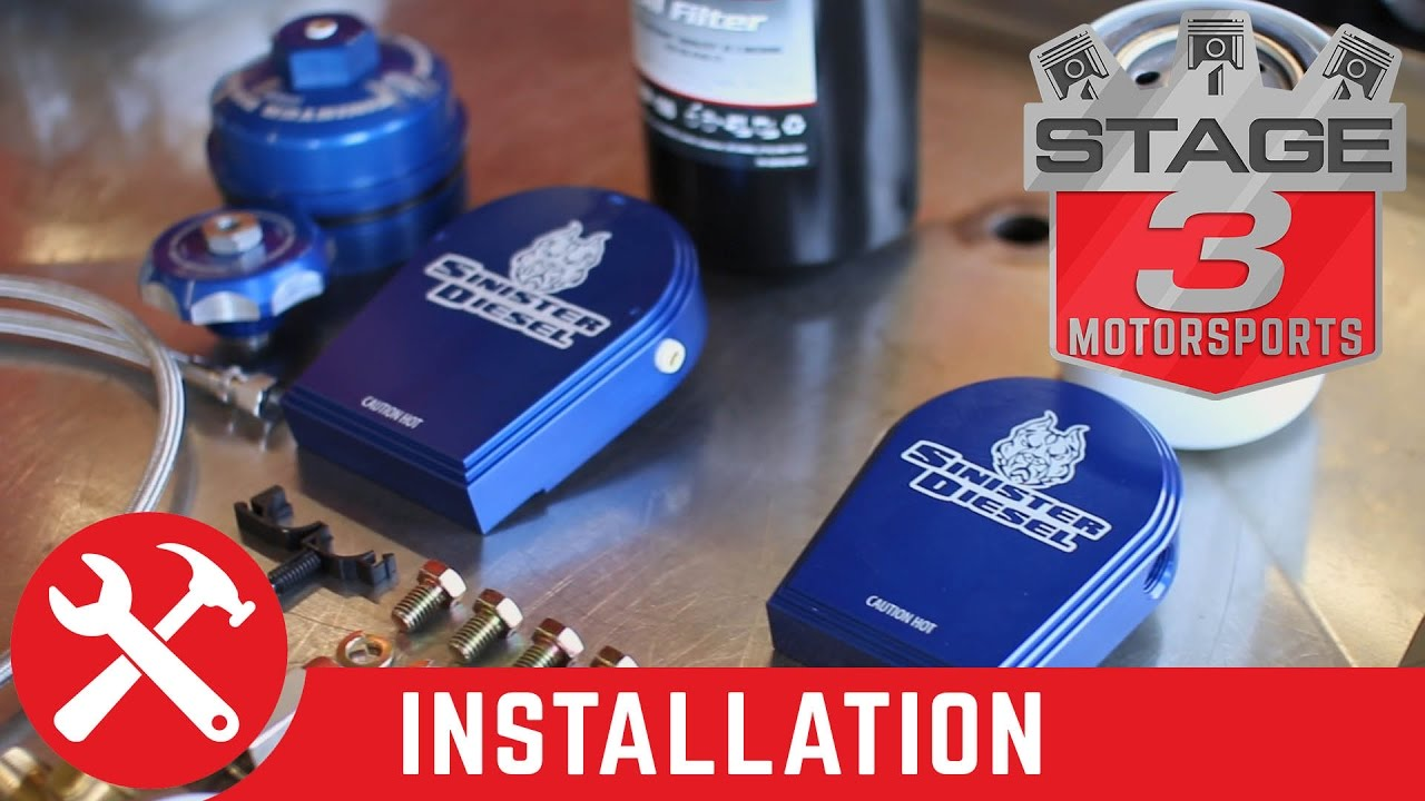 small resolution of 2003 2007 f 250 f 350 6 0l sinister diesel oil and coolant filtration system install