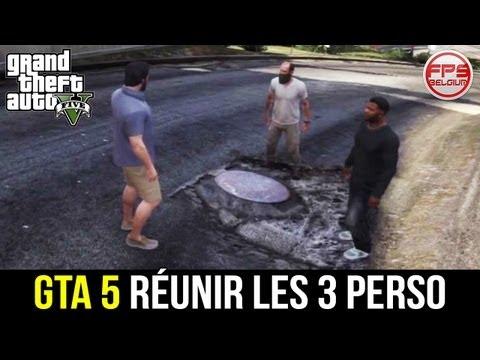 GTA 5 // Réunir les 3 perso (Franklin, Mickael, Trevor) + Dupliquer un perso ?!? WTF | FPS Belgium