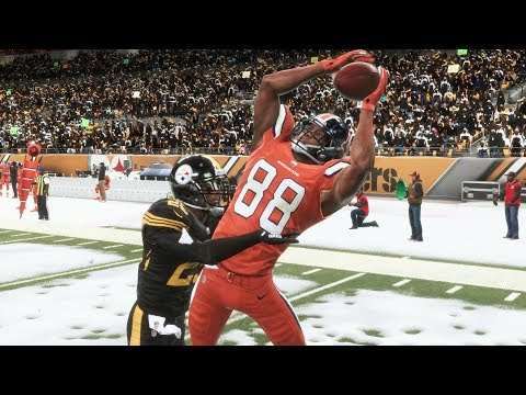 Madden 19 Denver Broncos Vs Pittsburgh Steelers Madden NFL 19 PS4 Pro Gameplay