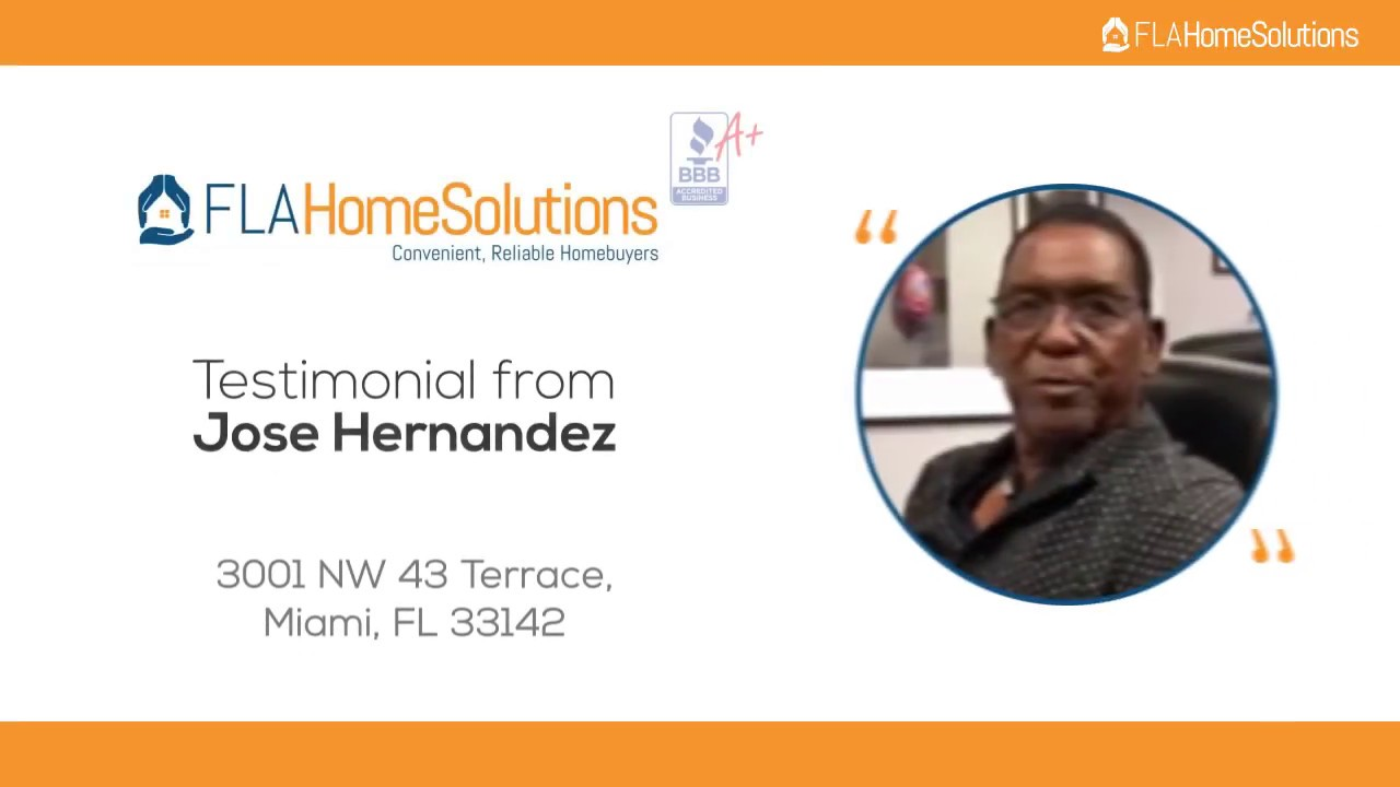 Visit www.FLAHomeSolutions.com or Call 305-602-4105 - Jose's Testimonial for Creative RE-Solutions