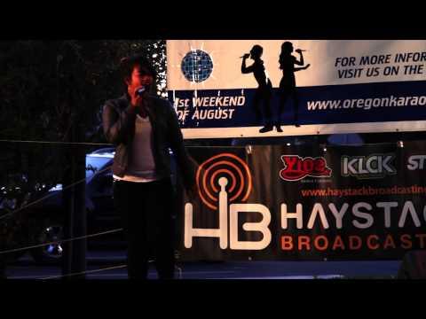 Justine Maryanne Oregon Karaoke Challenge 2013 The Dalles OR.