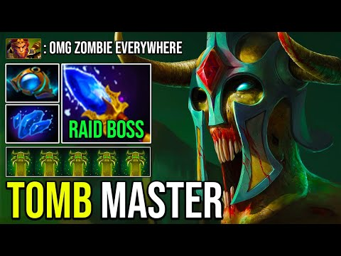 TOMB MASTER Scepter Undying 3s Decay Combo Raid Boss Most Crazy Imba Gameplay Top Immo Rank Dota 2