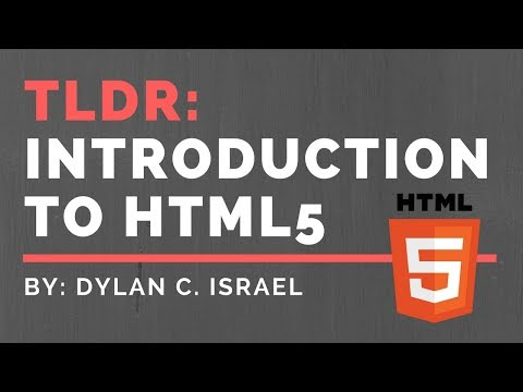 Introduction To HTML| HTML 101 | TLDR HTML