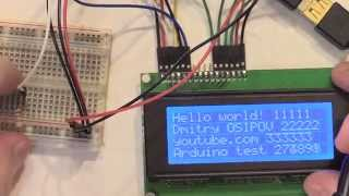 Arduino LCD ЖК дисплей J204A 20X4 Character Display Blue Blacklight