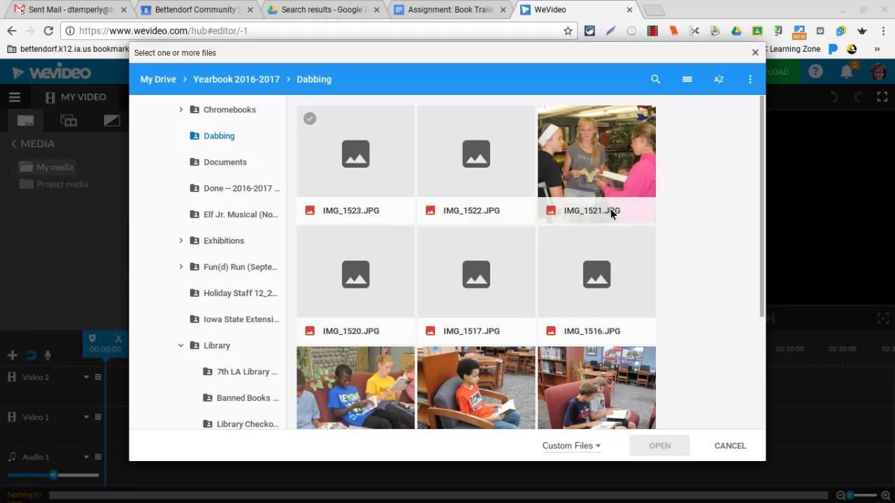 Uploading Media to WeVideo