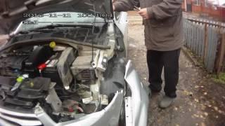 Как снять переднее крыло Citroen C-Elysee