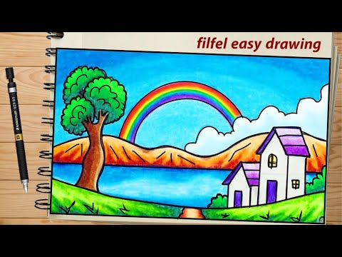 Easy Drawing Nature Drawing Easy Simple Drawings Simple Drawing Of Nature Scenery Painting Youtube