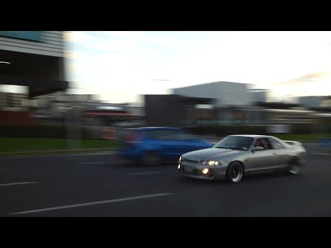 MX5 SHOOTS FLAMES! Tuner, JDM and Euro cars leave car show in Auckland