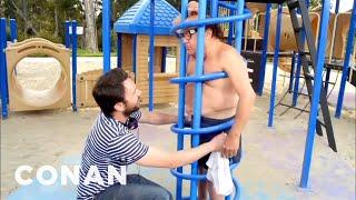 Watch Charlie Day Yank Off Danny DeVito's Undies