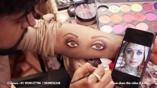 anurag makeup mantra present 3D eye makeup technique move babul rani mukharjee look
