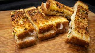 Domino's jaisi Cheese Garlic Bread Sticks बनाए सिर्फ 10 मिनट में | food rewind