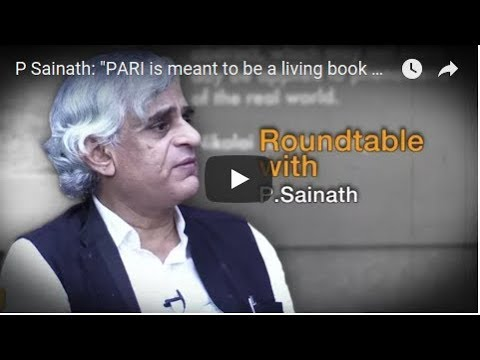 P Sainath: The Media in India is Casteist 1/5