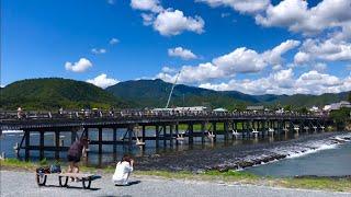 2019年9月9日 月 京都嵐山 渡月橋の風景🌟Arashiyama Kyoto ✨ 岚山🌱【4K】
