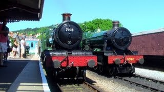 (HD) Trains on the West Somerset Railway 04/06/13
