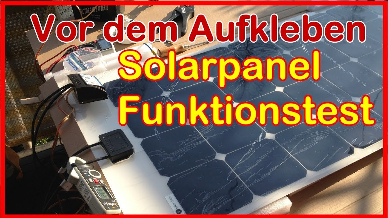 solarmodule f r das wohnmobil solaranlage test und. Black Bedroom Furniture Sets. Home Design Ideas
