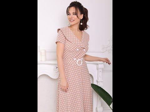 Платье женское Мода-Юрс модель 2690 rozowyj goroh 48 52
