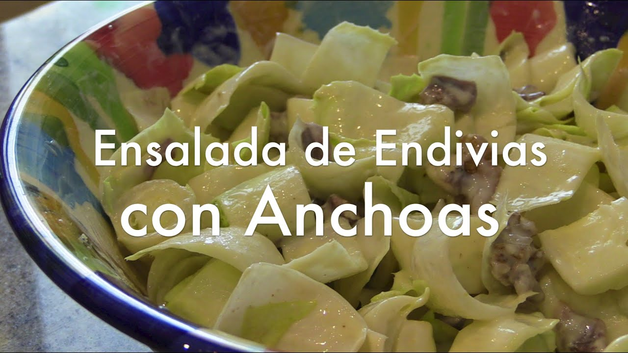 Ensalada De Endivias Con Anchoas Recetas Ligeras
