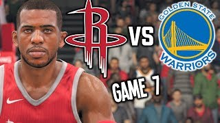Golden State Warriors vs Houston Rockets GAME 7 HYPE - NBA LIVE 18