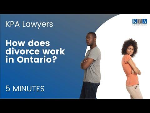 How Does Divorce Work In Ontario?