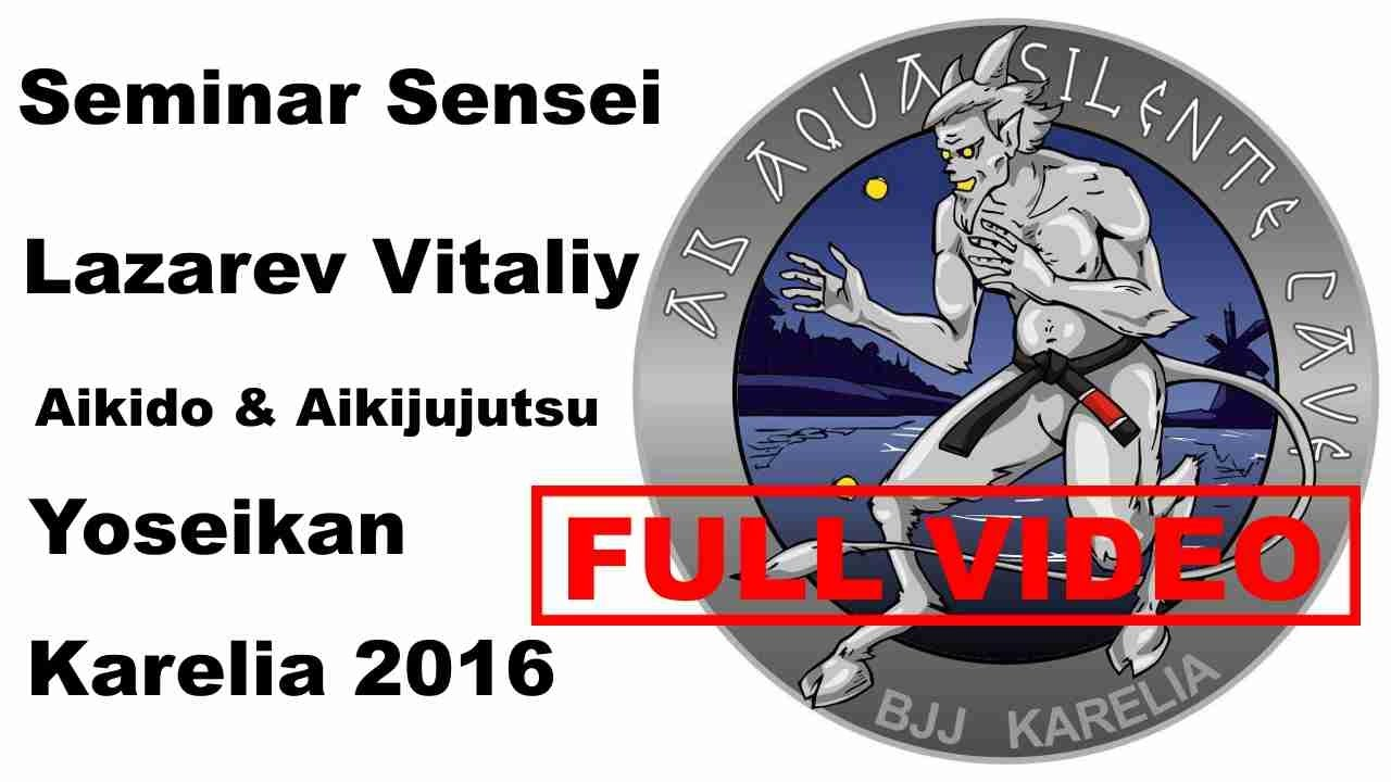 Seminar 10: sensei Lazarev Vitaliy Aikido & Aikijujutsu Yoseikan Russia Karelia