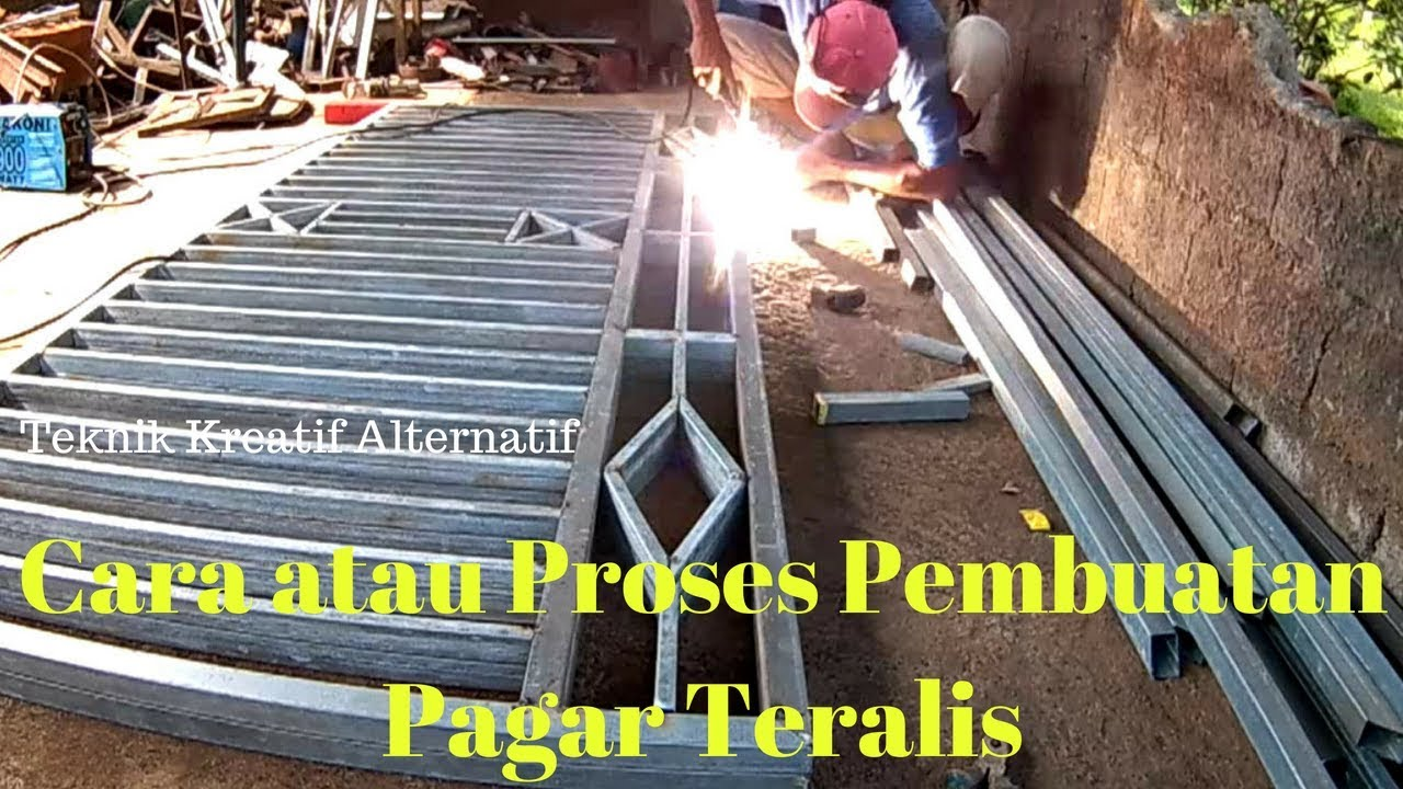 Cara Proses Membuat Pagar Teralis Part 1 Youtube