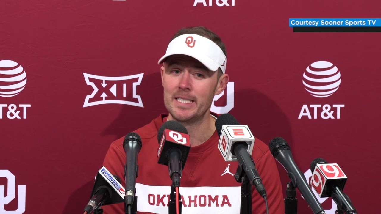 OU Football - Lincoln Riley post-game press conference ...