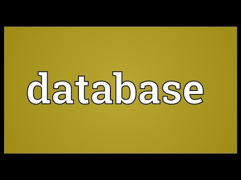 Database Meaning