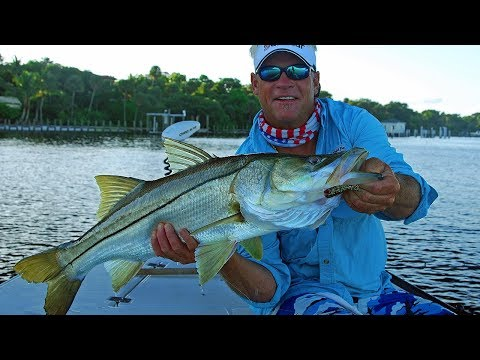 Snook fishing - biggest snook fish of my life in Stuart Florida