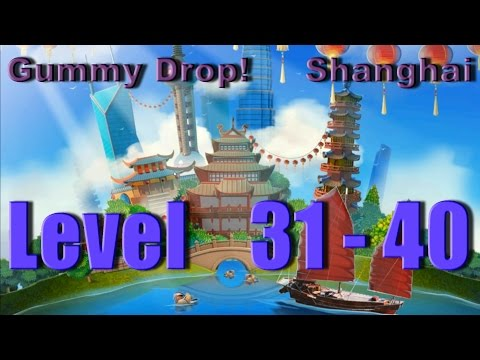 Gummy Drop! - Shanghai Конфетки! Level 31 - 40