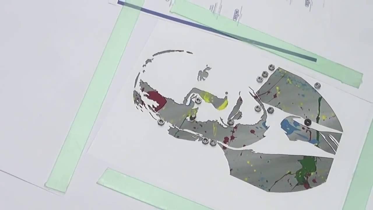 spray schablonen (stencil) erstellen mit epilog laser - youtube