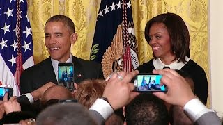 President Obama and First Lady Michelle Obama Host Black History Month Reception