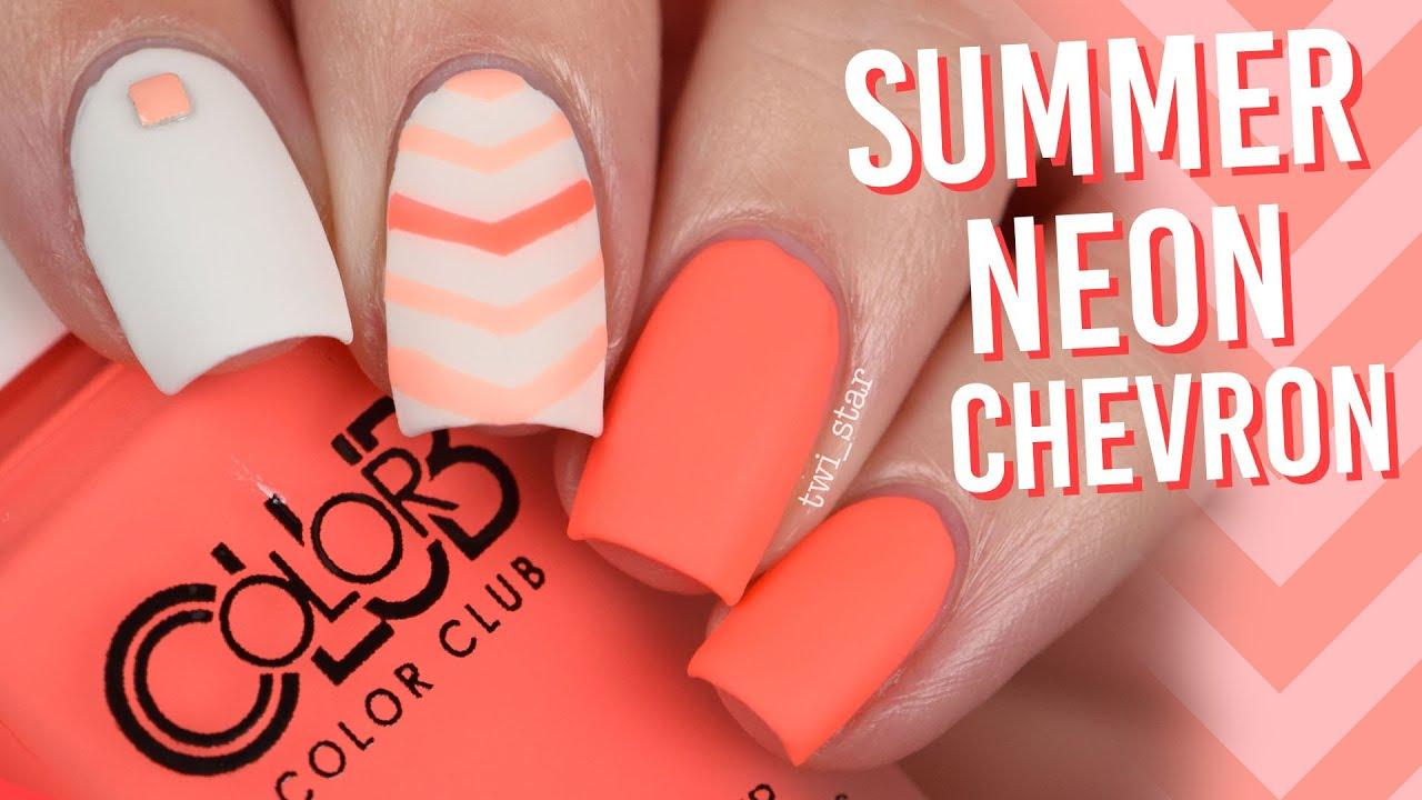 Summer Neon Chevron V Nail Art Color Club Pop Chalk Twi Star