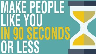 HOW TO MAKE PEOPLE LIKE YOU IN 90 SECONDS OR LESS BY NICHOLAS BOOTHMAN ANIMATED BOOK REVIEW