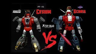 Transformers Perfect Fusion Cesium vs FansToys Scoria