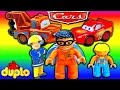 ♥ BRANDWEERMAN SAM! Sam en Duplo Man met Lightning McQueen Cars in Nederlands filmpje FunClips4Kids