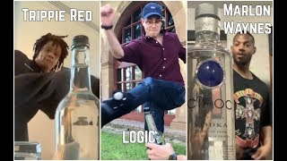 *RAPPERS* Bottle Cap Kick Challenge | Trippie Redd Logic Swae Lee Marlon Waynes
