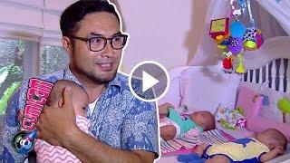 Bahagia Surya Saputra Gendong Si Kembar - Cumicam 02 Maret 2017