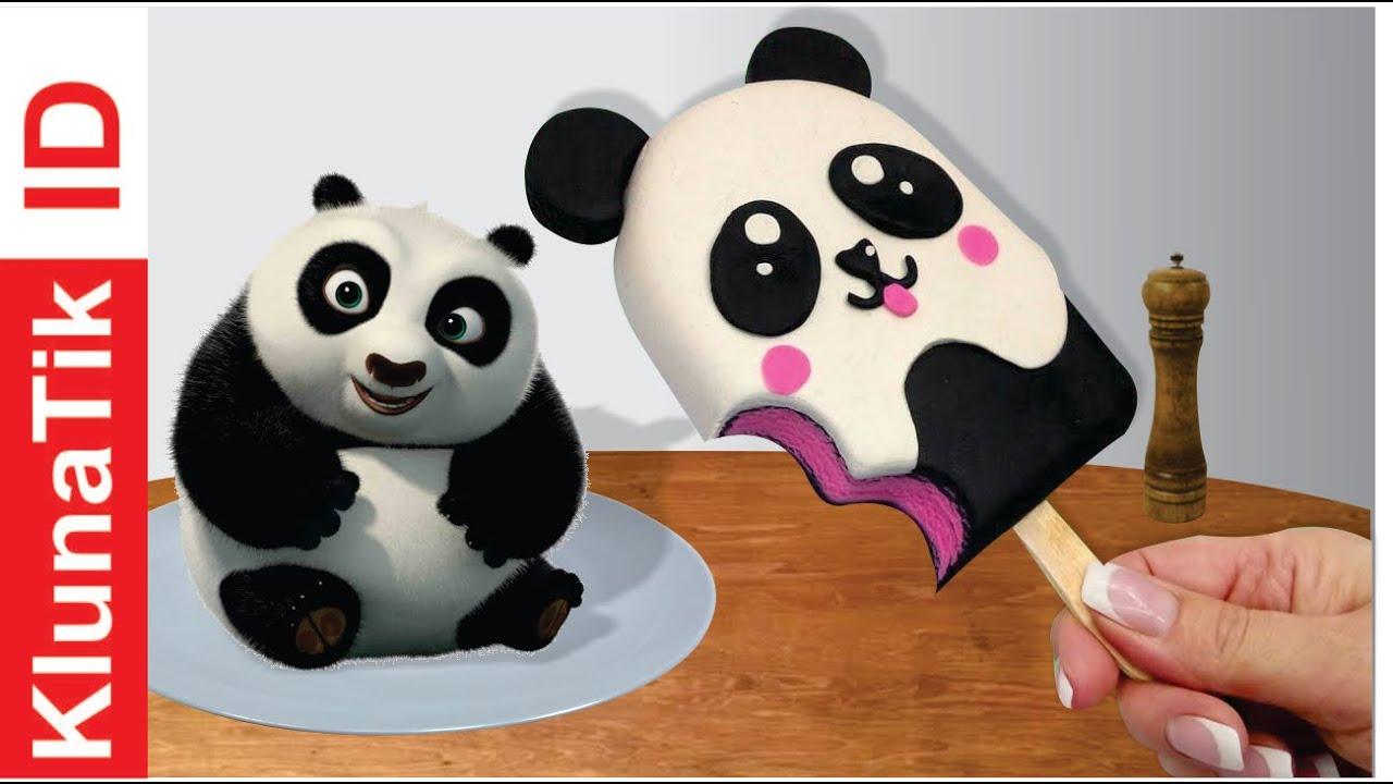 Kluna Tik Eating Ice Cream Panda | Play Doh | Colored Clay - Kluna Tik ASMR SOUNDS