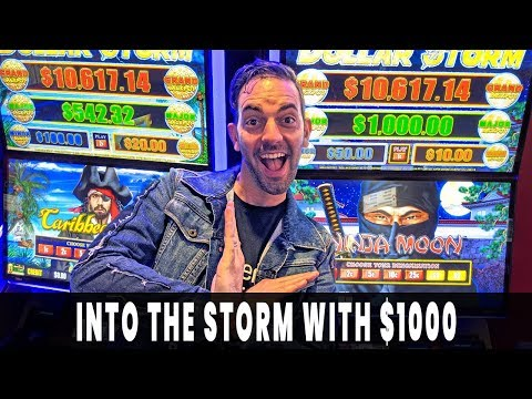 ⛈ INTO THE STORM W/ $1000 ⚡ Wild WINNING Run On Dollar Storm Ninja Moon 🌔