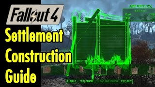 Settlement Construction Guide Fallout 4 xBeau Gaming