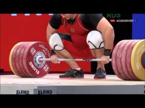 Aleksey Lovchev 264 kg World Record Clean and Jerk 2015 World Championships