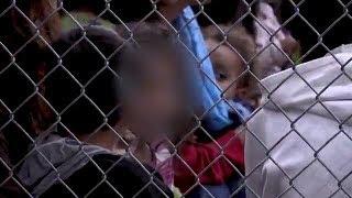 Children inside a Texas Border Patrol detention center, From YouTubeVideos
